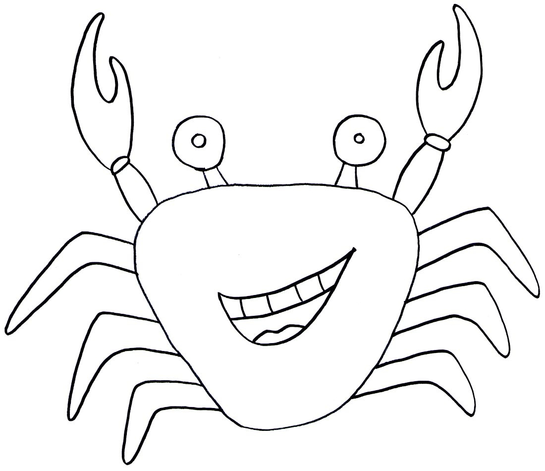 little crabs coloring pages