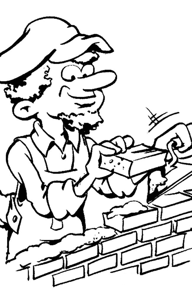 Free community worker coloring pages
