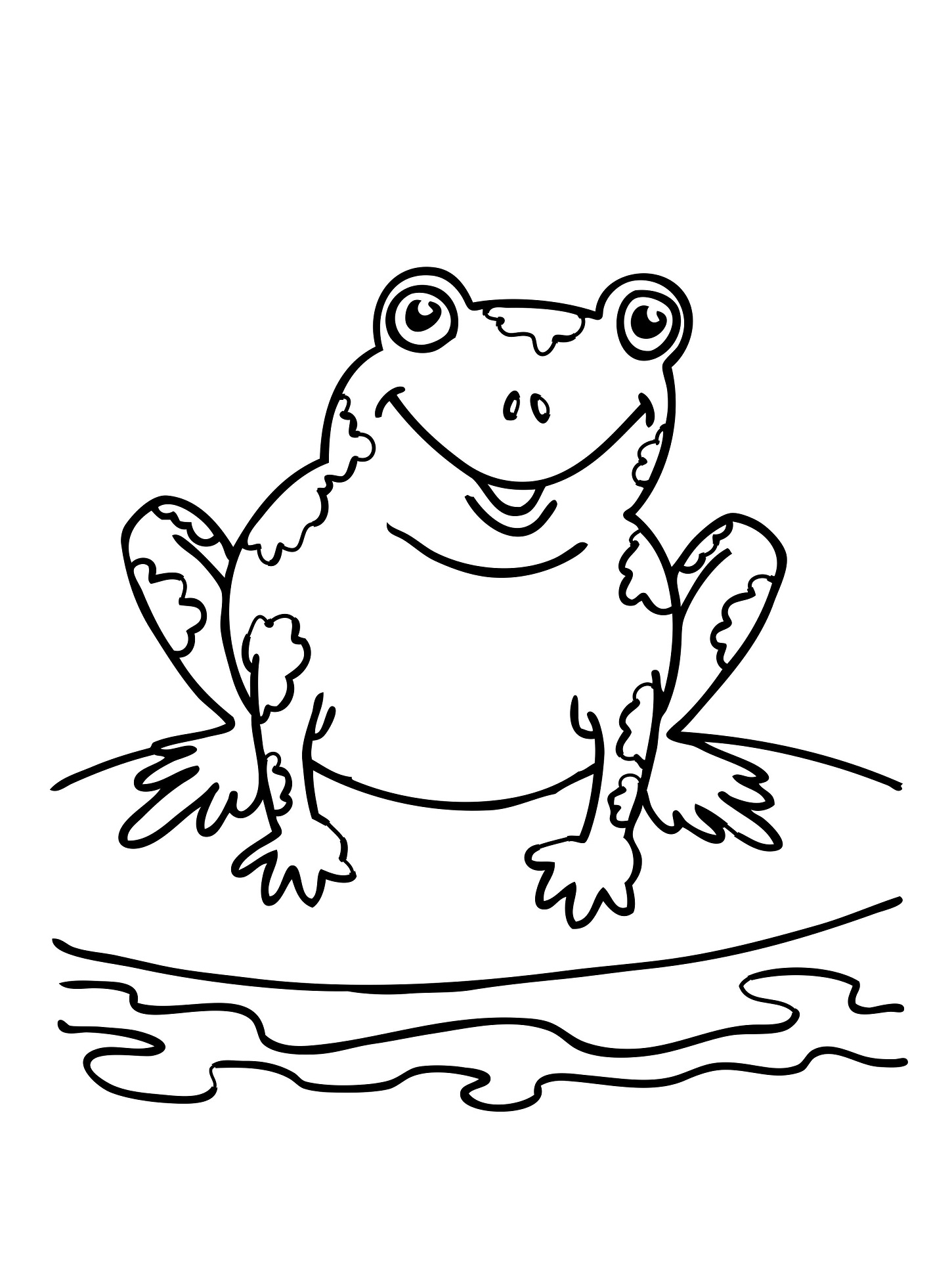 A Frog Habitat Coloring Pages Coloring Pages