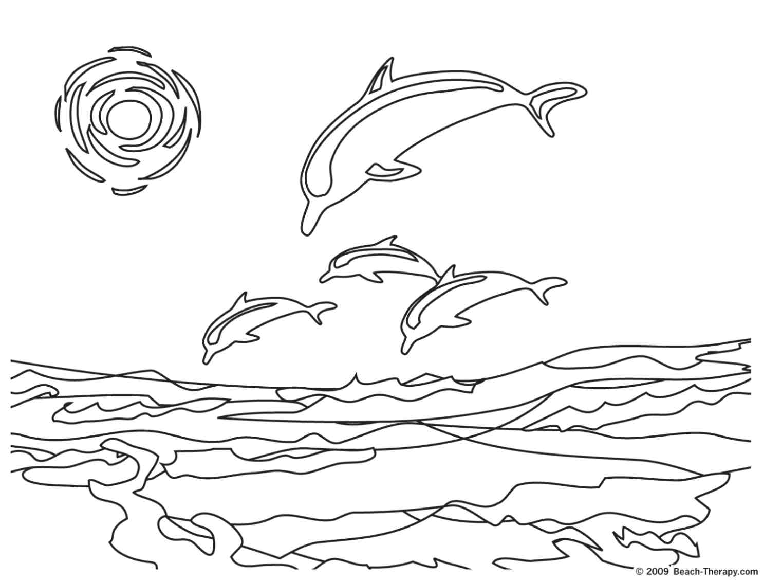 Free coloring pages of sunset beach