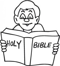 Free coloring pages of picture of bible