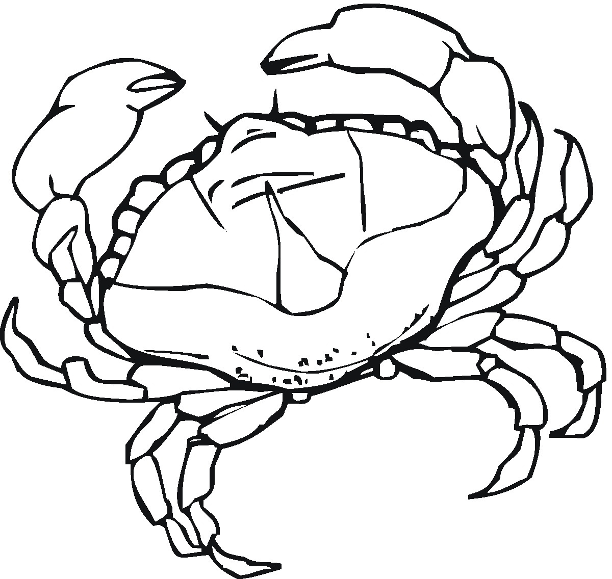 Free coloring pages of crab