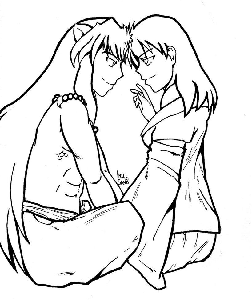inuyasha coloring pages coloring pages