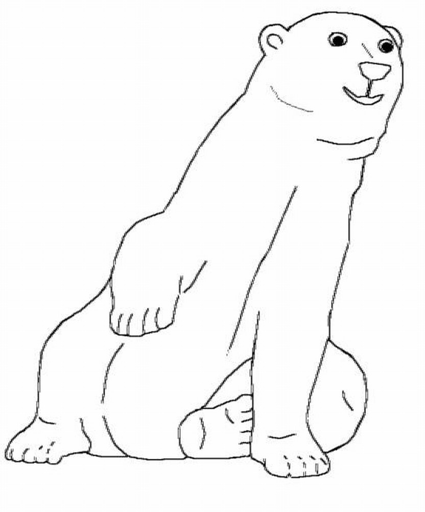 polar bear coloring pages to print polar bear coloring pages