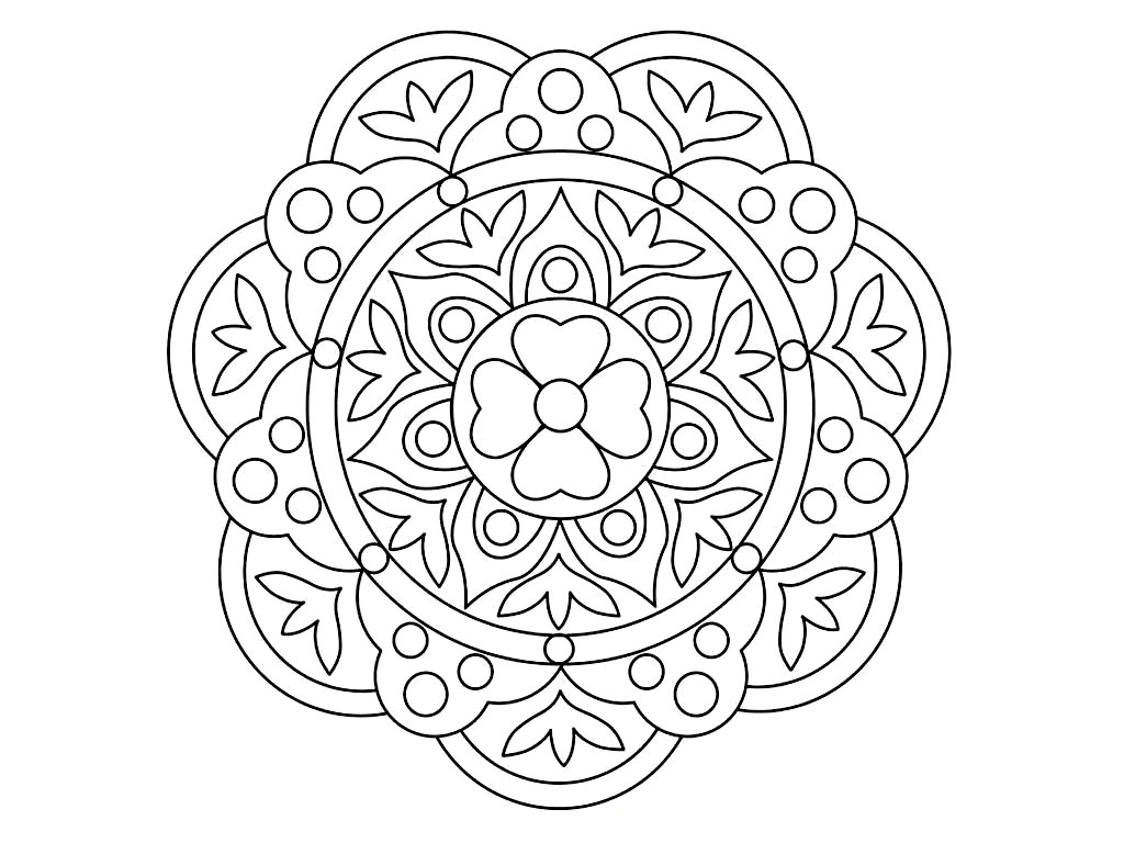 Peacock Rangoli Coloring Sheets Coloring Pages