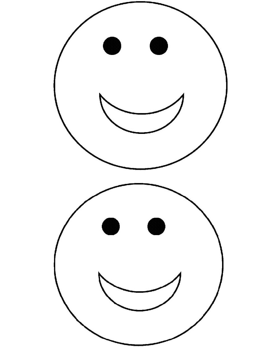 Smiley Face Coloring Pages Printable Sketch Coloring Page