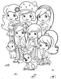 Pin Strawberry Shortcake Coloring Pages For Kids Print ...