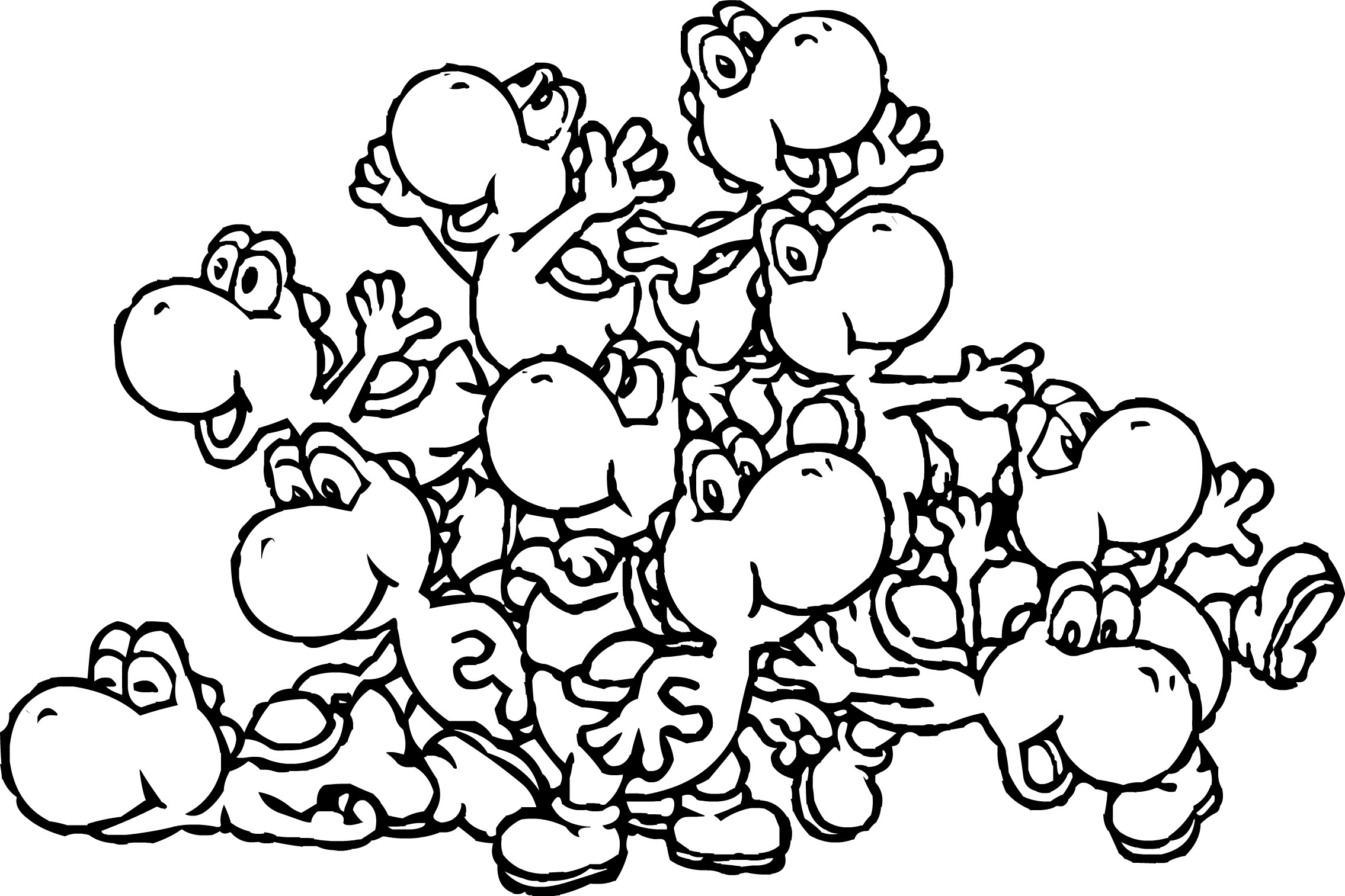 Cute Mario Coloring Pages