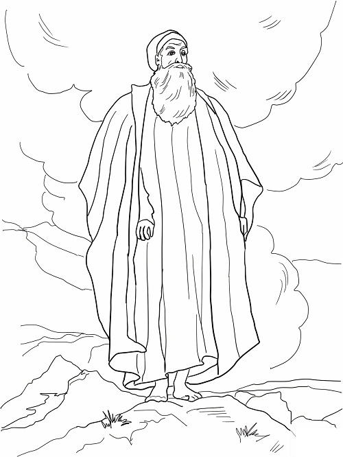 Moses Leaving Egypt Coloring Page Coloring Pages