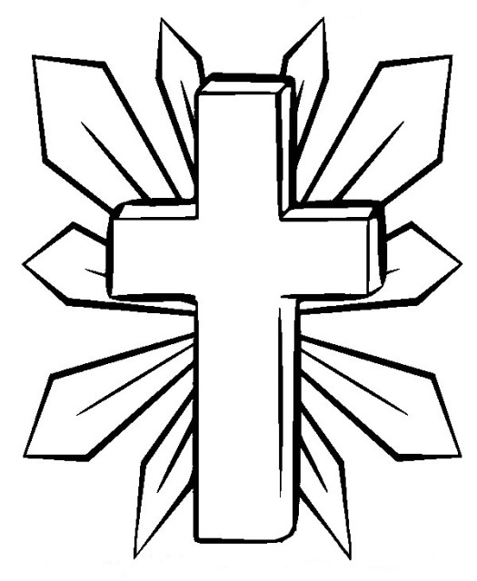 Cross Printable Coloring Pages