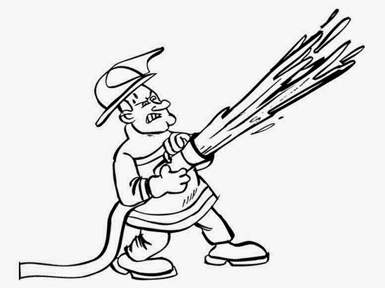 Fire Hat Coloring Page Sketch Coloring Page