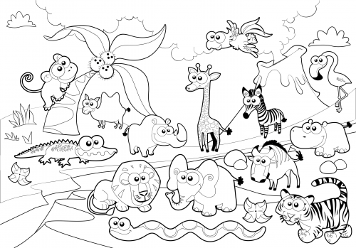 Printable Zoo Coloring BookZooPrintable Coloring Pages Free Download