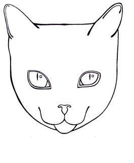Cat Face Coloring Coloring Pages