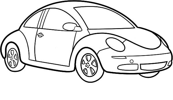 Easy Car Design Drawings Sketch Coloring Page