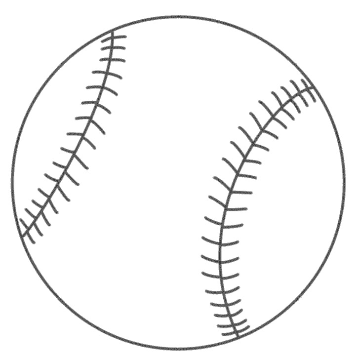 Free Baseball Font With Tail Sketch Coloring Page