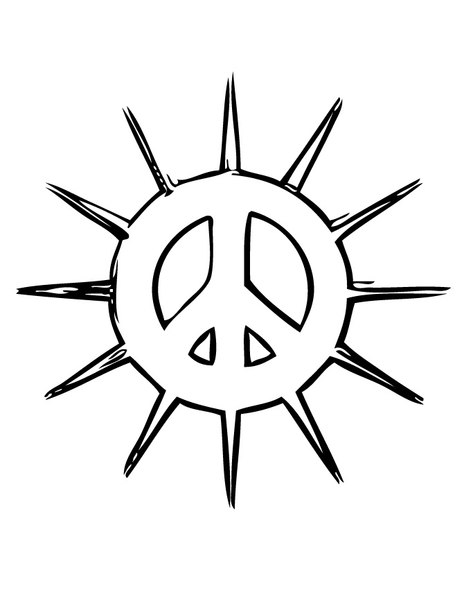 Printable peace sign coloring pages coloringmecom, peace and love coloring pages