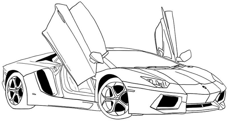 Car Outlines Clipartsco Sketch Coloring Page