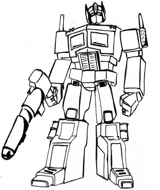 Printable Transformers Coloring Pages Coloringme Com