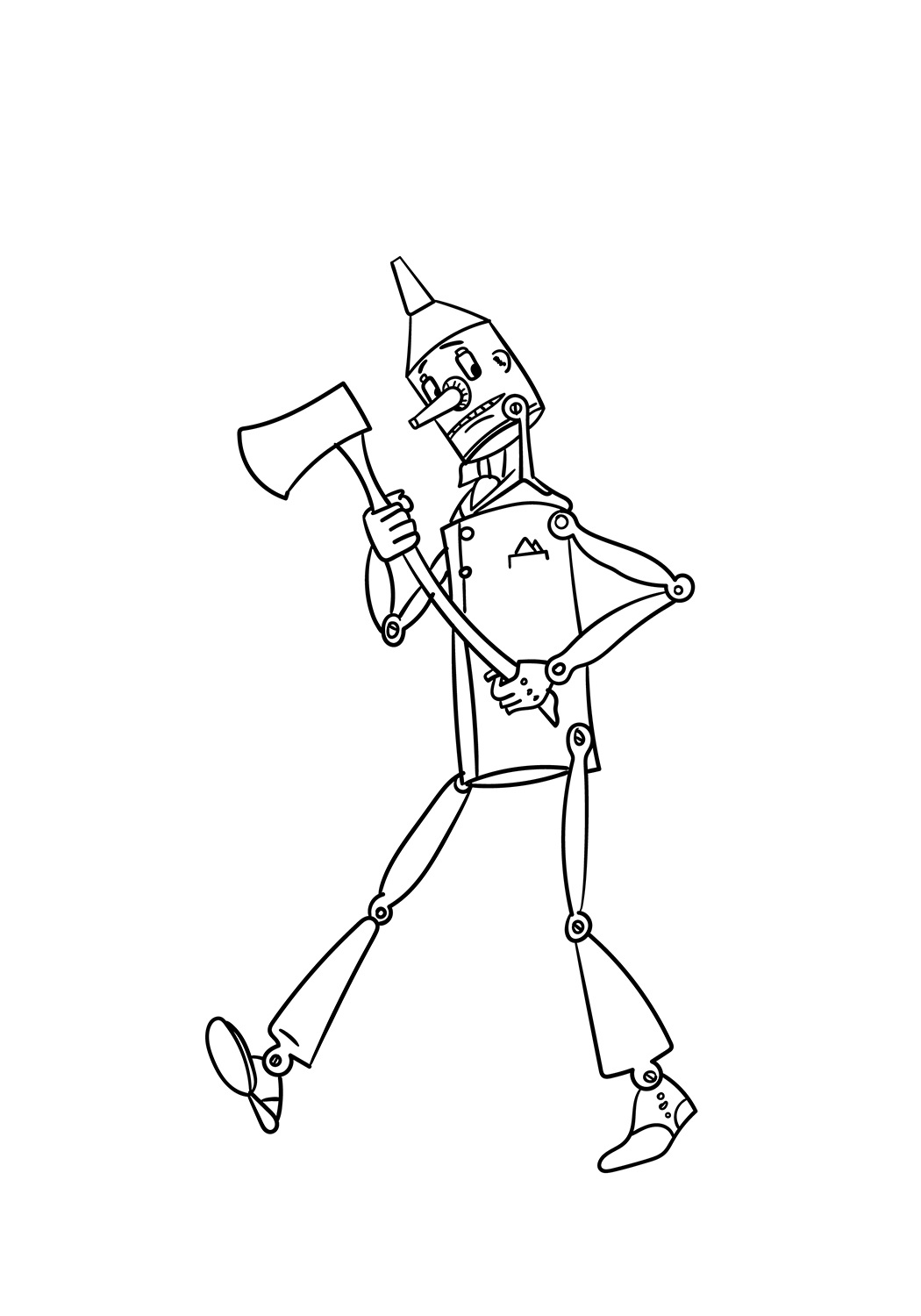 The Tin Man Coloring Page Free Printable Coloring Pages