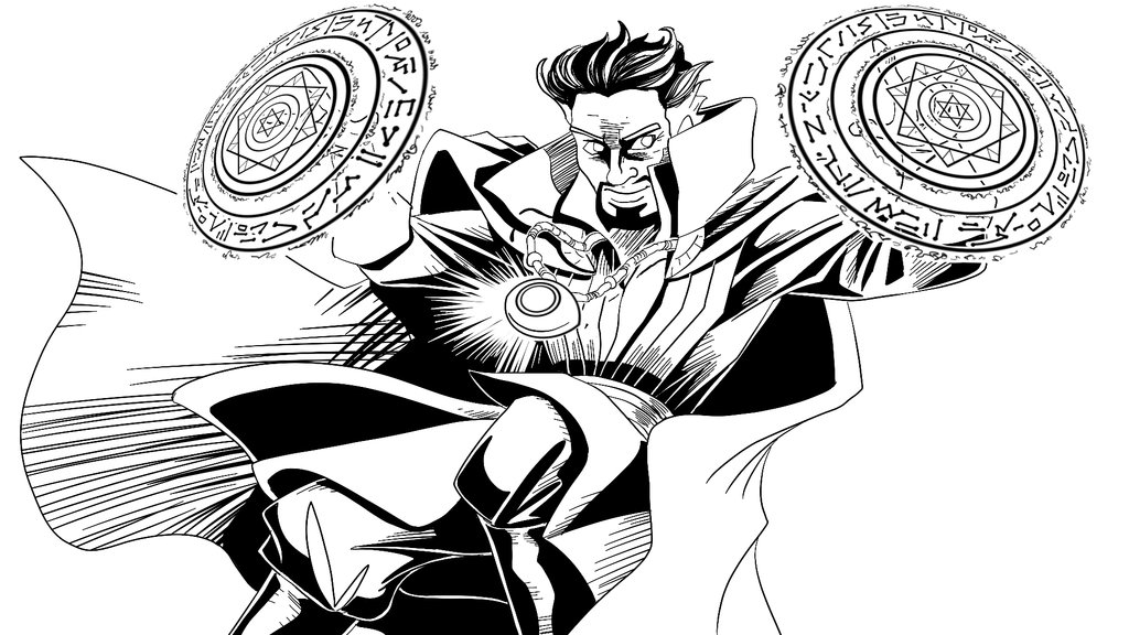 Doctor Strange Using Power Coloring Page Free Printable