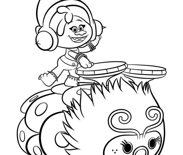 Dj Suki In Trolls Coloring Page Free Printable Coloring Pages