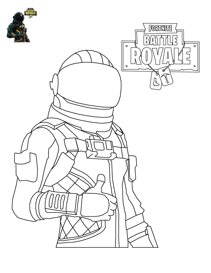 Dark Voyager In Fortnite Battle Royale Coloring Page