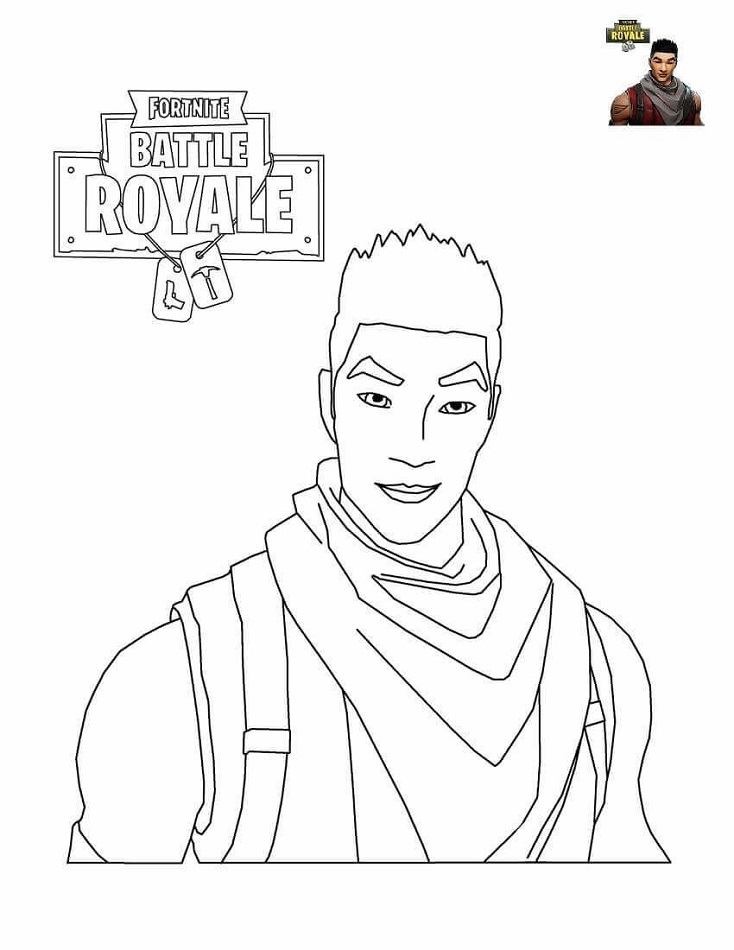 Shock Trooper From Fortnite Battle Royale Coloring Page