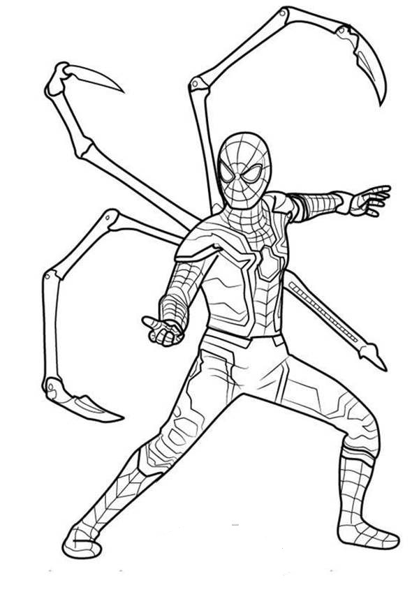 Iron Spider In Infinity War Coloring Page