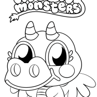 Cute Moshi Monster Coloring Page   Free Printable Coloring ...