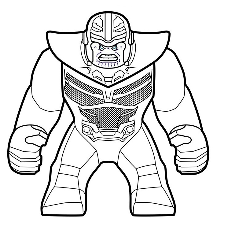 angry lego thanos coloring page  free printable coloring