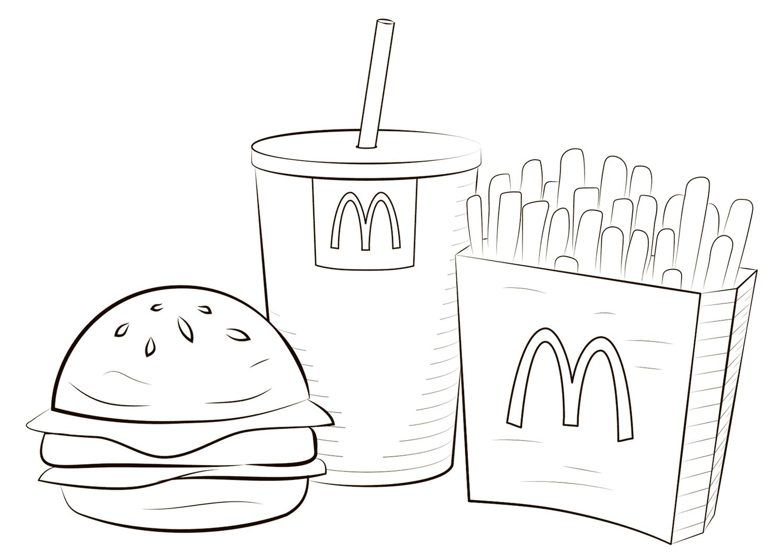 Mcdonald Food Coloring Page