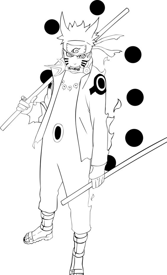 Naruto Paths Pages Six Coloring Sage