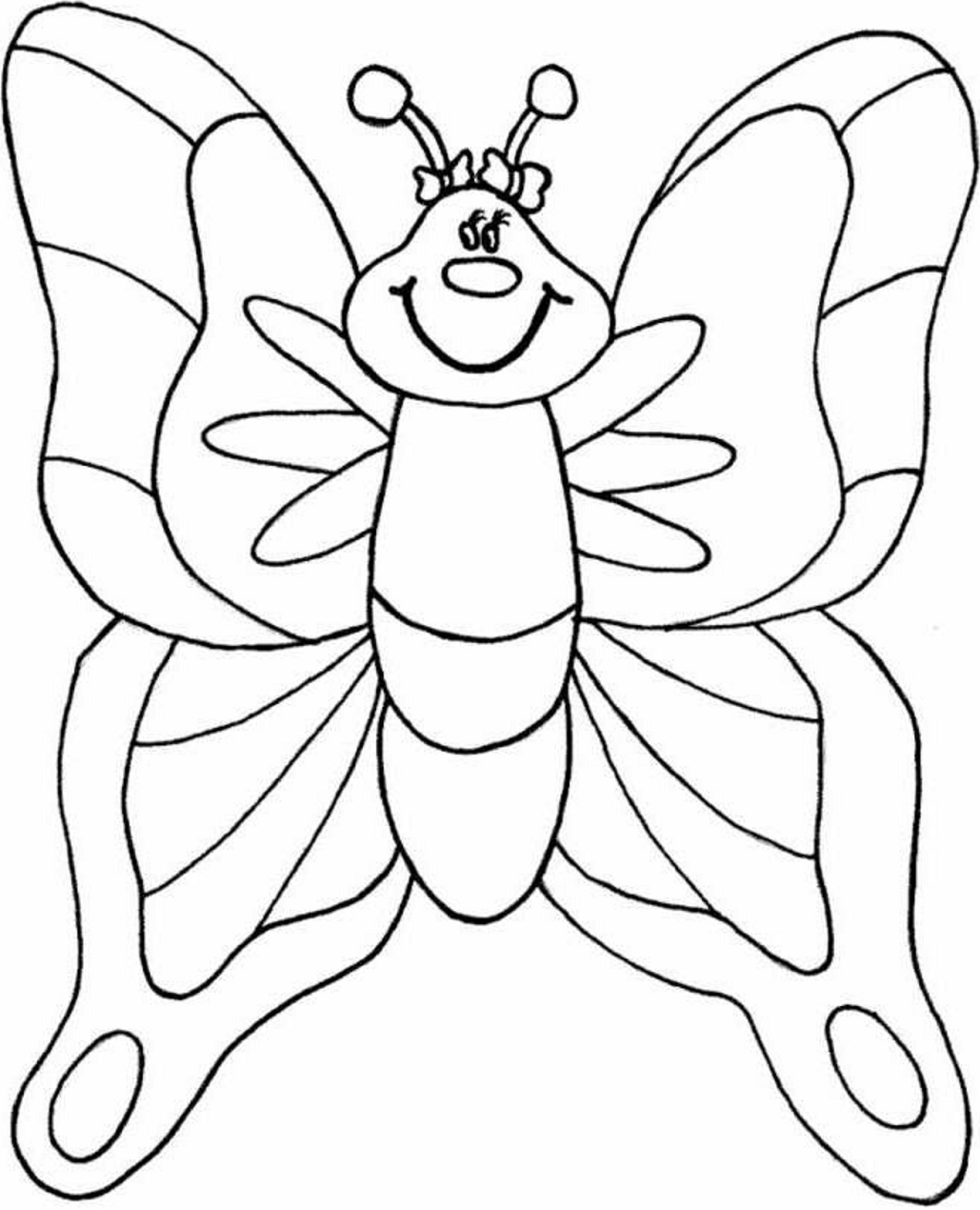 Butterfly For Child Preschool Coloring Page