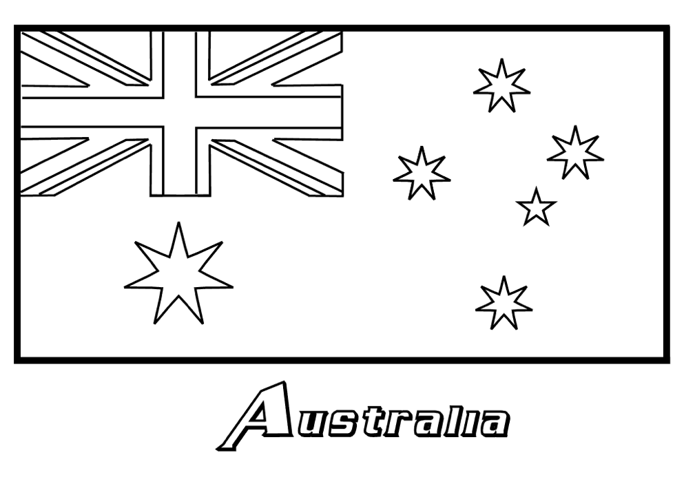 Australia Flag Coloring Page & Coloring Book