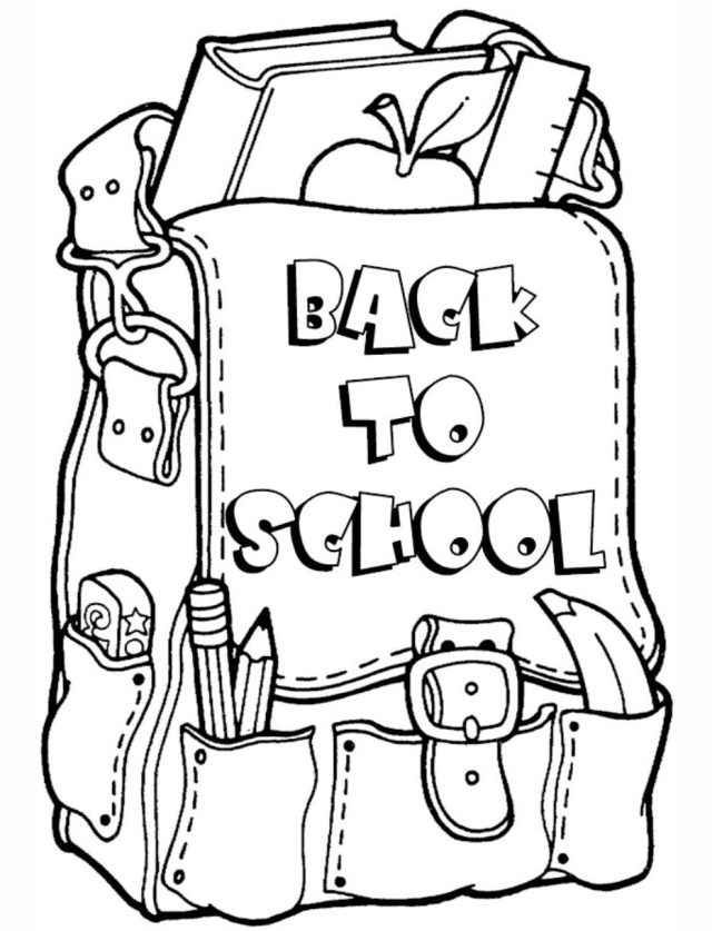 back-to-school-coloring-page - Coloring Page Book