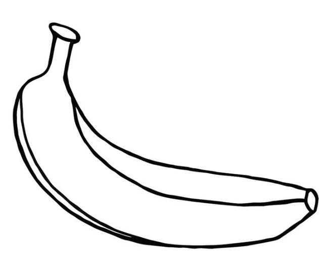 Banana Coloring Page  Coloring Book