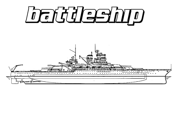 Battleship Coloring Page coloring page & book for kids.