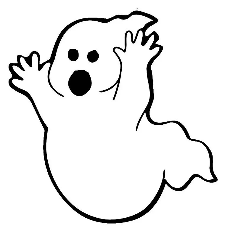 Big Ghost Coloring Page coloring page & book for kids.