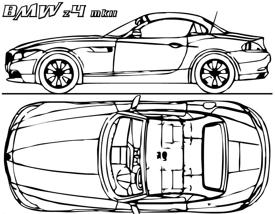 BMW Concept Car Coloring Page coloring page & book for kids.