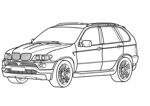 BMW X5 Coloring Page & Coloring Book
