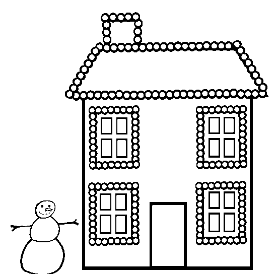 Christmas Lights Coloring Page & Coloring Book