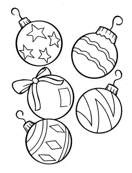 Christmas Tree Ornaments Coloring Page & Coloring Book