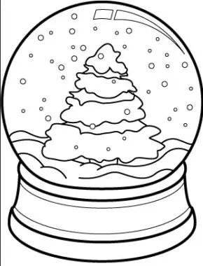 Christmas : Santa Christmas Tree Coloring Page