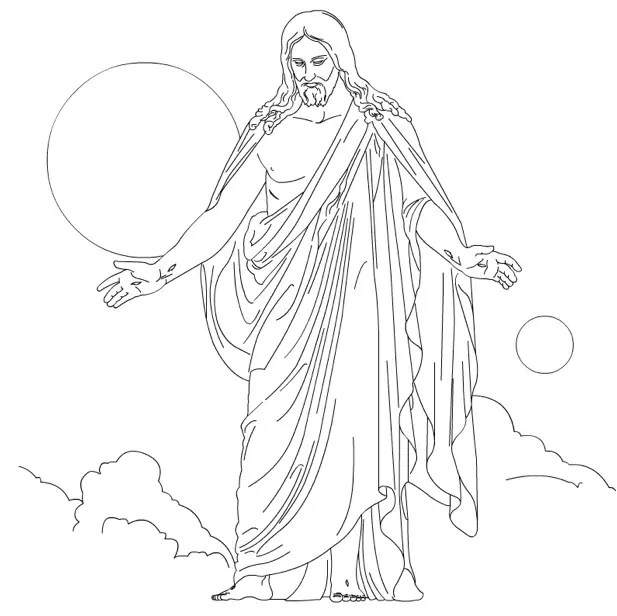 Christus Coloring Page & Coloring Book