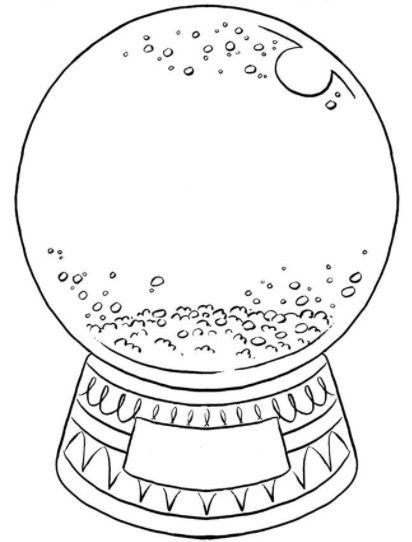 Create Your Own Snow Globe & Coloring Book
