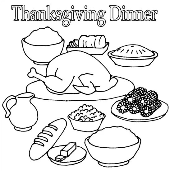 Thanksgiving Dinner & Coloring Book