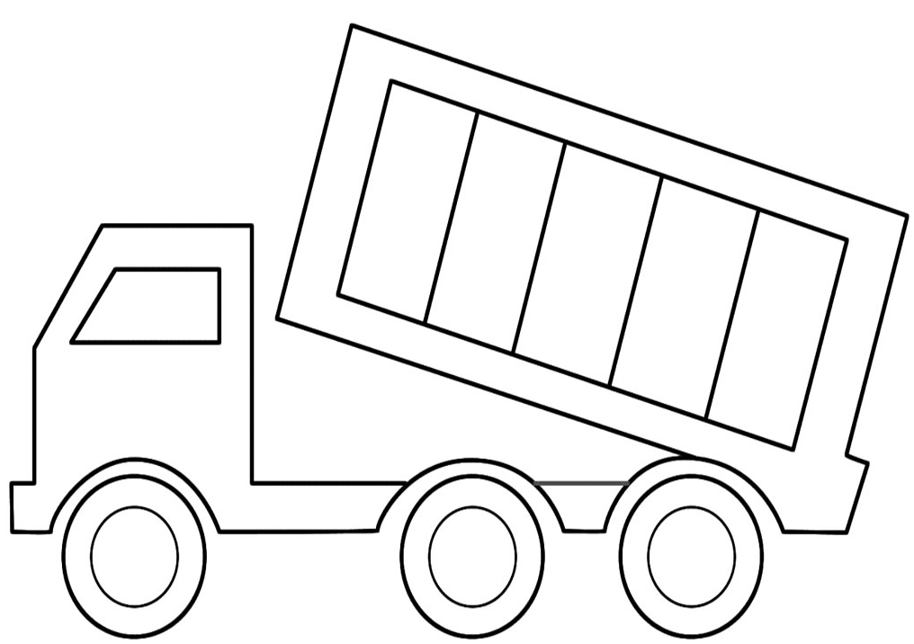 Dump Truck Coloring Page coloring page & book for kids.