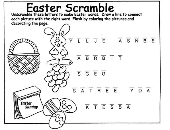 Printable Easter Activity Sheet & Coloring Book