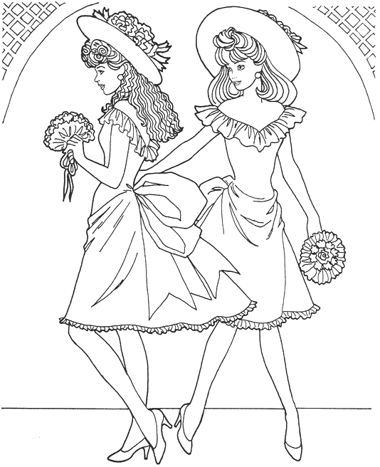 Fashion Model Coloring Page coloring page & book for kids.