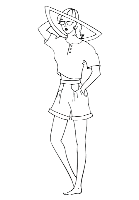 Fashion Angels Portfolio Printables Coloring Pages
